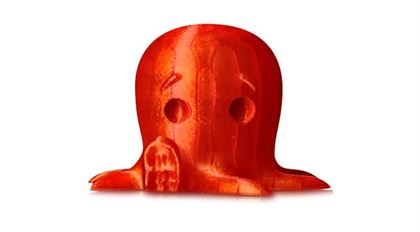 Immagine di Makerbot PLA Filament Large Translucent Orange - Art. MP05764