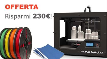 Immagine di PROMO | Makerbot Replicator 2 Desktop 3D printer - Art. MP04948