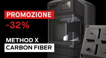 Immagine di PROMO | MakerBot Method X CARBON FIBER 3D PRINTER - Art. 900-0074A-PRO20E